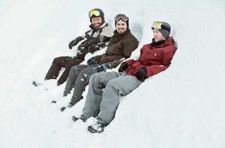 vacances au ski entre copains