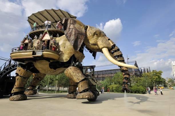 Machine Grand Eléphant sur l'île des machines à Nantes