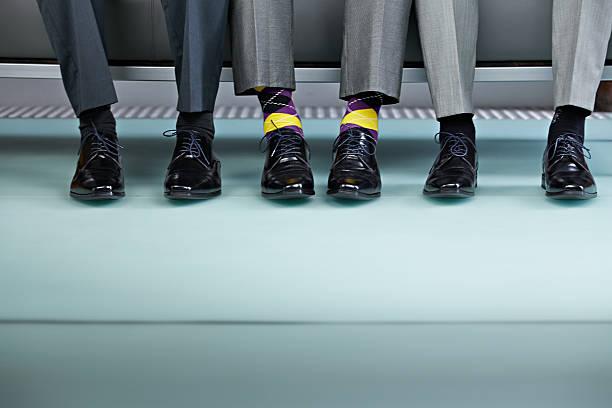 Chaussures d'homme avec chaussettes fantaisies